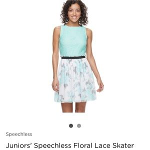 Turquoise junior dress